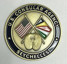 """US State Department US Consular Agency Consulate Seychelles Africa 1.75"""""""