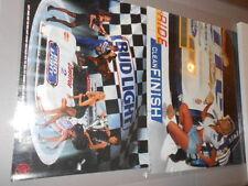PAIR OF RACING POASTERS 1992 DAVY JONES ISMA BUD LIGHT JAGUAR,LITE BEER #2 NASCA
