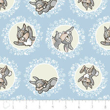 Camelot Disney Bambi Thumper in Blue 100% cotton fabric by the yard