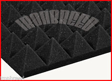 """2""""x 12""""x 12""""Acoustic Pyramid Studio Soundproofing Foam Wall Vocal Booth Made USA"""