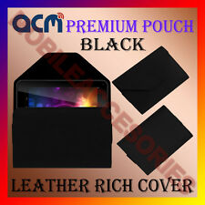 ACM-PREMIUM POUCH CASE BLACK for IBALL SLIDE 3G Q27 TABLET COVER