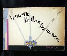 CGT FRENCH LINE LAFAYETTE DE GRASSE ROCHAMBEAU Brochure 1931