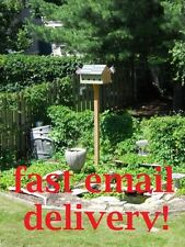 Large Bird House - Construction Project Plans - DIY! FREE SHIPPING! blueprints!