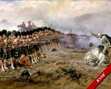 THIN RED LINE PAINTING BRITISH MILITARY HISTORY CRIMEAN WAR ART CANVAS PRINT