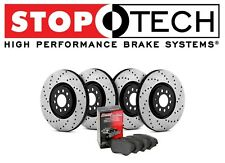 Acura TL 2004 - 2008 Stoptech Street Drilled Front Rear Brake Rotors Pads Kit
