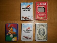 Lot of 3 Decks of Playing Cards, Joe Cool (Camels), SW Airlines & Dollar