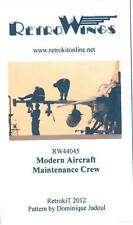 RetroKits Models 1/144 MODERN AIRCRAFT MAINTENANCE CREW Resin Set