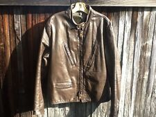 RARE VTG Mens M/L PASSAIC? BATES? VANSON? Leather Cafe Racer Motorcycle Jacket