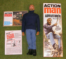 ACTION MAN 40th BOXED ADVENTURER BLONDE BEARDED w/ GRIPPING HANDS
