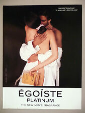 Chanel Egoiste Platinum Eau de Toilette PRINT AD - 1994 ~ perfume, parfum