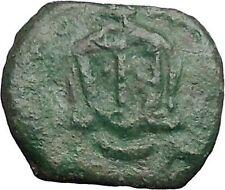 LEO V the ARMENIAN Constantine Syracuse Sicily Byzantine Follis Coin i48816
