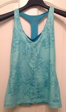 THE NORTH FACE Green Floral Tank Top With Built In Bra Size M