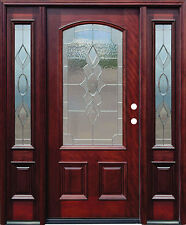 """Stunning 61"""" X 96"""" Solid MahoganyWood Entry Door with Sidelights - $6,465"""