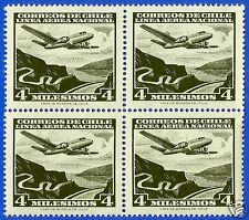 CHILE, AIR PLANE OVER RIVER, AIR MAIL, BLOCK,MNH, YEAR 1960-1962, CASA DE MONEDA