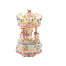Laxury 18note 3-horses Carousel Music Box, Play the Castle in the Sky,Multicolor
