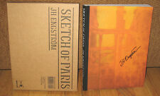 New SIGNED JH J H Engstrom Sketch of Paris Slipcase PB 250 Photographs