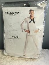 Adult White Nautical Marine Sailor Costume Deluxe Costume Underwraps Quality OS