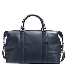 Coach Men's 54765 (93471) Voyager Midnight Navy Leather Duffel overnight gym bag