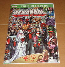 Marvel True Believers Wedding of Deadpool #1 1st Print Deadpool 27