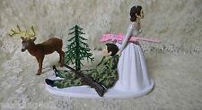 Wedding Reception Party Deer Camo Hunter Hunting Cake Topper Redneck