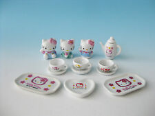 Genuine HELLO KITTY Ceramic Figure Cup Tea Cup Saucer Pot SANRIO Japan Kawaii