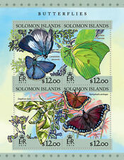 Solomon Island 2016 Butterflies Insects Butterfly S/S SLM16303