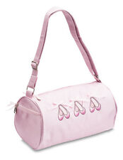 Girls Pink Satin Ballet Barrel Shoulder Dance Shoe Bag By Katz Dancewear KB21