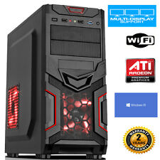 AMD  3.7GHz Dual Core GAMING PC 8GB 500GB FAST PC COMPUTER WINDOWS 10 dp426