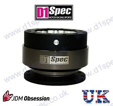 D1 SPEC STEERING WHEEL QUICK RELEASE BLK/CH CIVIC SKYLINE RX7 180SX 200SX 240SX
