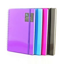 A5 Plastic Notepad Spiral Pad - Book 70gsm Lined  Page Paper Notebook Tabbed