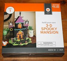 Halloween Build Your Own 3-D SPOOKY MANSION Haunted House Kit NEW