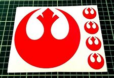 Sticker Decal Star Wars Alliance Rebel Red fits Cars, Laptop, Tablets, Helmet