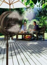 Water Misting Fan Outdoor Patio Cooling Breezy Air Mister Spray Hose Portable