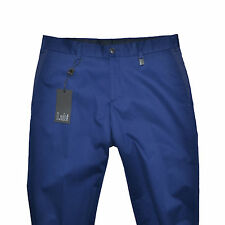 LAB PAL ZILERI Pantalon Coton Bleu Mens Trouser 44IT Made in Italy Electric Blue