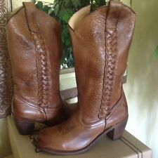 Bed Stu Women's Tan Leather Western Cowgirl Boot 10M  MSRP $260