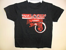 """VOLCOM Little Youth S/S T-Shirt """"Taca Between the Lines"""""""" Black Small/4 NWT"""