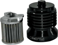 FLO Spin On Stainless Steel Oil Filter Black PC Racing PCS4B