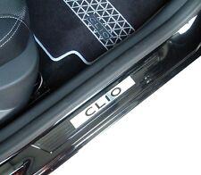 Renault Clio IV III Einstiegsleisten schwarz Logo Klavierlackoptik Original NEU