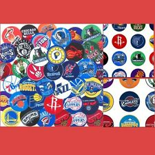100 Precut assorted NBA All BASKETBALL Teams BOTTLE CAP IMAGES 1 inch discs