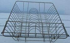 ANTIQUE WIRE DISH DRAIN WITH TRAY FARM HOUSE FIND