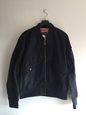 SIZE XL NEW SCHOTT NYC PARKA FAIRFIELD MA-1 SUMMER BOMBER JACKET NAVY RRP £110