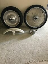 "Harley Davidson Softail Wheels (Front 21' Rear 17"") Tires Front Fender, Headlamp"