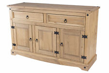 Premium Corona medium 3 door 2 drawer sideboard buffet unit rustic mexican pine
