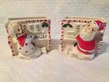 MCM NAPCO SANTA & MRS CLAUS ON PIANO ~ hard to find ~ VINTAGE CHRISTMAS