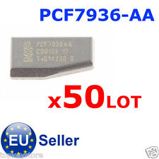50pcs/LOT PCF7936-AA car key immobilizer carbon transponder chip blank HITAG2