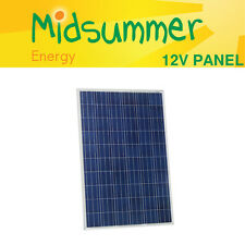 Midsummer 12V 150W poly crystalline Solar PV Panel - silver frame/tempered glass