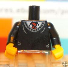 Lego Black TORSO Office Uniform Red Tie Design Minifigure Body Part - Qty x 1 Pc