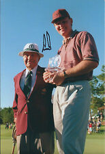 Ernie ELS SIGNED AUTOGRAPH 12x8 Photo AFTAL COA with Gene SARAZEN Trophy Winner
