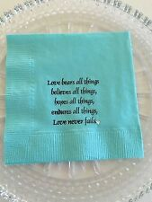 Breakfast At Tiffany Inspired Love Wedding, Bridal Shower Beverage Napkins