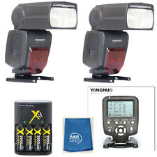 Yongnuo YN560TX LCD Wireless Flash Controller + 2 pcs YN660 Flash For Canon ++++